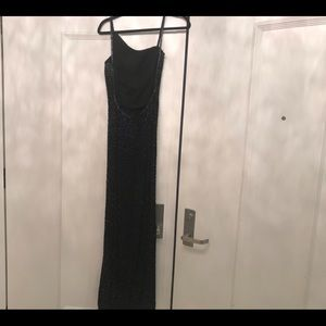 Full Length Black Sequined Gown
